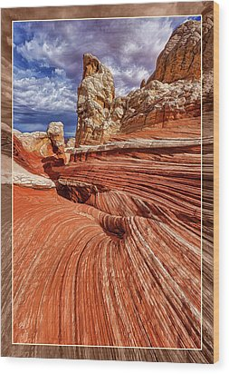 Wood Print featuring the photograph White Pocket Flow by ABeautifulSky Photography