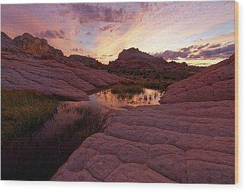 Wood Print featuring the photograph White Pocket Sunset by Jonathan Davison