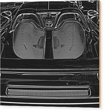 White Porsche  Wood Print by Fred Nugent