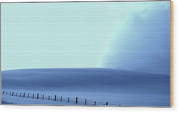 White Powder Wave Wood Print