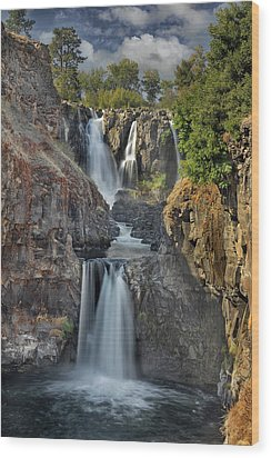 White River Falls State Park Wood Print by David Gn
