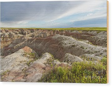 White River Valley Badlands Wood Print