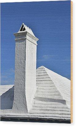 White Roof No. 6-1 Wood Print