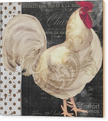 White Rooster Cafe I Wood Print by Mindy Sommers