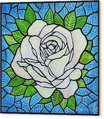 White Rose  Wood Print by Jim Harris