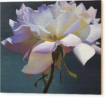 White Rose Of Eden Wood Print
