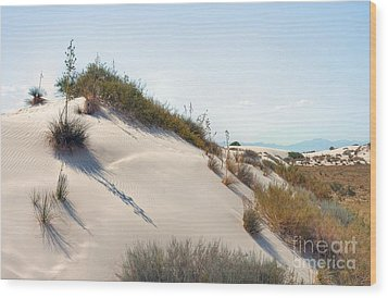 White Sands Icing Wood Print by John Kelly
