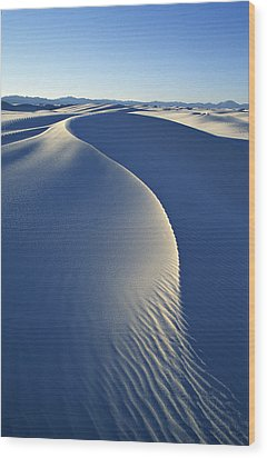 White Sands National Monument Wood Print by Dawn Kish