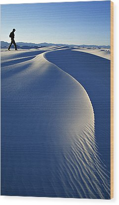 White Sands National Park, New Mexico Wood Print by Dawn Kish