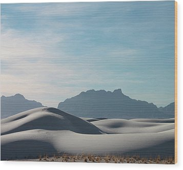 Wood Print featuring the painting White Sands Natural Anatomy  by Jack Pumphrey