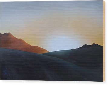 White Sands Sunset Wood Print by Debbie Anderson