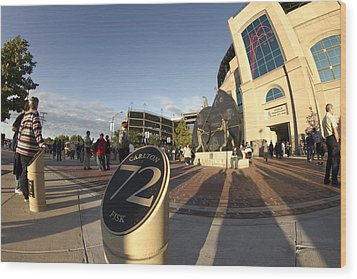 White Sox Fans Before A Game Wood Print by Sven Brogren