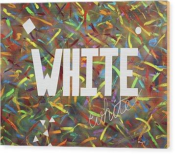 White Wood Print by Thomas Blood