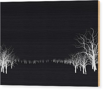 White Tree Wood Print
