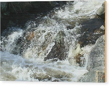 Wood Print featuring the digital art White Water by Barbara S Nickerson
