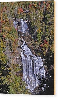 White Water Falls Wood Print