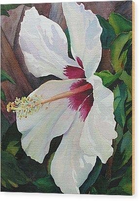 White Wonder Wood Print by Judy Mercer