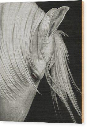 Whitefall Wood Print