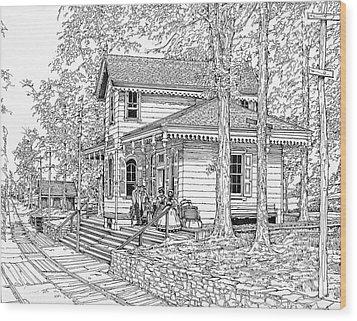 Whitehall Station Bryn Mawr Pennsylvania Wood Print