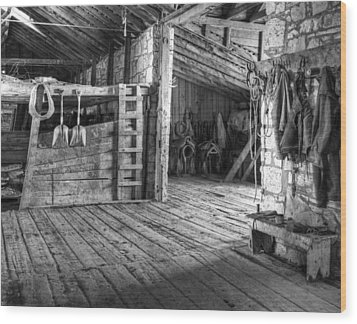 Whitehorse Ranch 3 Wood Print by Ron Schwager