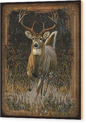Whitetail Deer Wood Print by JQ Licensing