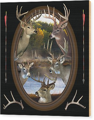 Whitetail Dreams Wood Print