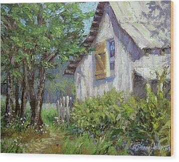 Whitewash Wood Print by L Diane Johnson