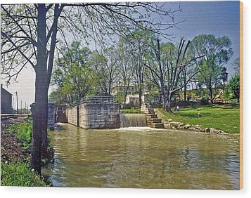 Wood Print featuring the photograph Whitewater Canal Metamora Indiana by Gary Wonning