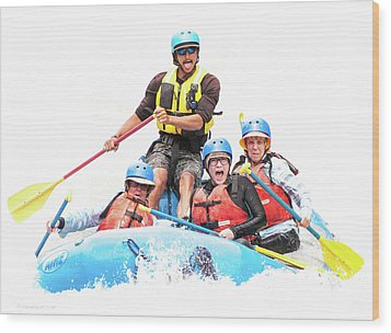 Wood Print featuring the photograph Whitewater Faces by Britt Runyon