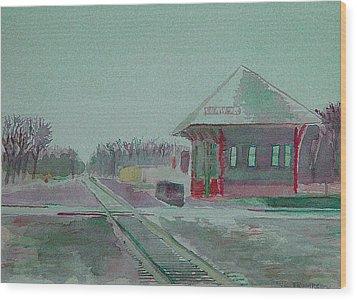 Whitewater Rail Station Wood Print