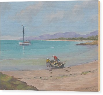 Whitsunday Sailors Wood Print by Murray McLeod