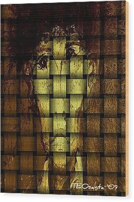 Who Am I   Series 3  Wood Print by Teodoro De La Santa