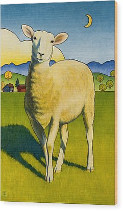 Who Are Ewe Wood Print