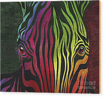 Wood Print featuring the painting What Are You Looking At by Peter Piatt