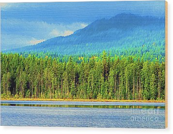 Wood Print featuring the photograph Whonnock Lake Mountain Photo Art by Sharon Talson