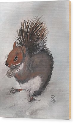 Who's Had Me Nuts Wood Print