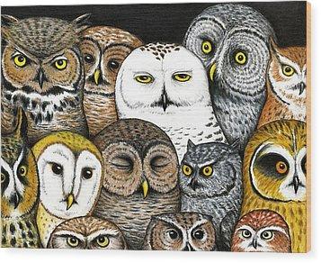 Who's Hoo Wood Print