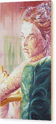 Whos That Girl Wood Print by LB Zaftig