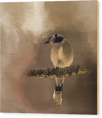 Who's There? Wood Print by Cyndy Doty