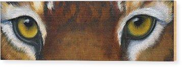 Whos Watching Who   Tiger Wood Print by Darlene Green