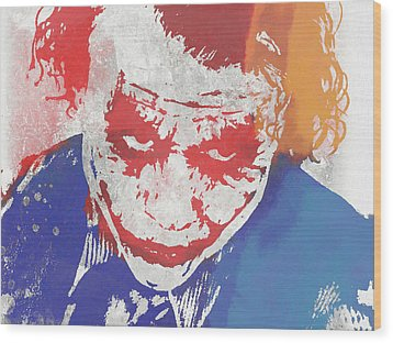 Why So Serious Wood Print