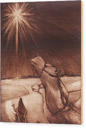 Why Would Wisemen Follow A Star? Wood Print by Linda Anderson