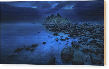 Wood Print featuring the photograph Whytecliff Dusk by John Poon