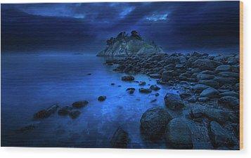 Whytecliff Dusk Wood Print by John Poon