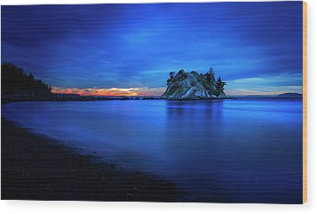 Whytecliff Sunset Wood Print by John Poon