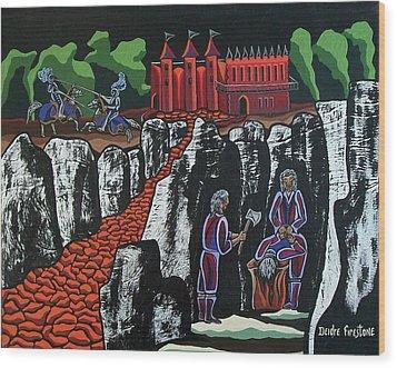 Wicked Times Wood Print by Deidre Firestone