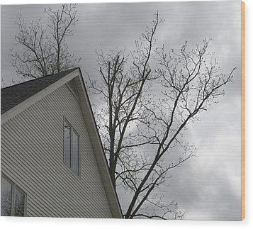 Wicked Weather Wood Print by Rosie Brown