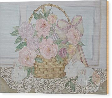 Wicker And Old Lace Wood Print by Patti Lennox