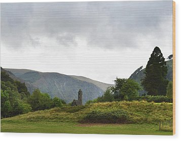 Wood Print featuring the photograph Wicklow Mountains by Terence Davis
