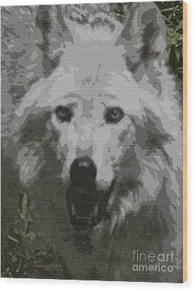 Wood Print featuring the painting Wide Eyes Vision by Debra     Vatalaro